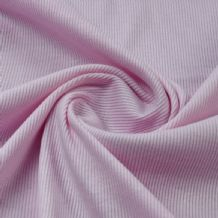 Baby Pink - Plain 100% Cotton 2x1 Rib